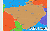 Political Simple Map of Yozgat