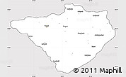 Silver Style Simple Map of Yozgat, cropped outside