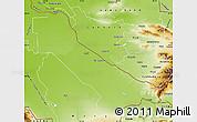 Physical Map of Chardzhou
