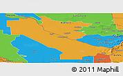 Political Panoramic Map of Chardzhou