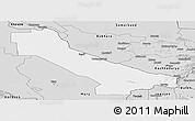 Silver Style Panoramic Map of Chardzhou