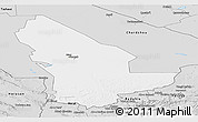 Silver Style Panoramic Map of Mary