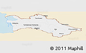 Classic Style Panoramic Map of Turkmenistan, single color outside