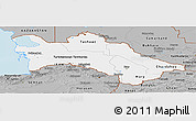 Gray Panoramic Map of Turkmenistan