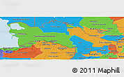 Political Panoramic Map of Turkmenistan