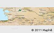 Satellite Panoramic Map of Turkmenistan