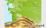 Physical 3D Map of Turkmenistan Territories