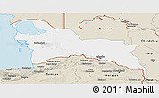 Classic Style Panoramic Map of Turkmenistan Territories