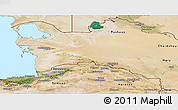Satellite Panoramic Map of Turkmenistan Territories