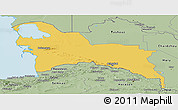 Savanna Style Panoramic Map of Turkmenistan Territories