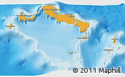Political Shades 3D Map of Turks and Caicos Islands