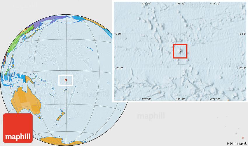 Political Location Map of Funafuti