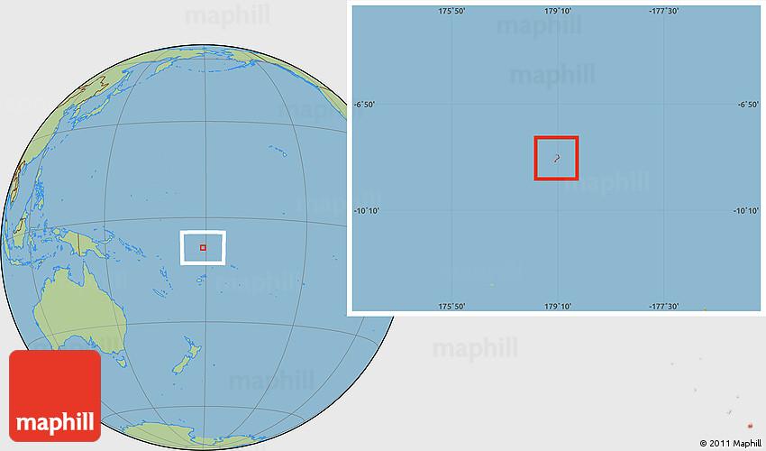 Savanna Style Location Map of Funafuti