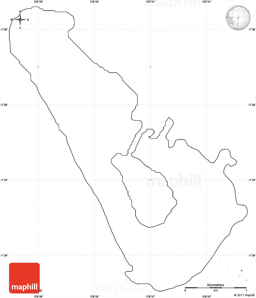 Blank Simple Map Of Vaitupu - Tuvalu map