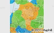 Political Shades 3D Map of Bushenyi