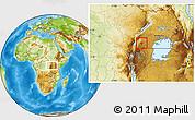 Physical Location Map of Buhweju