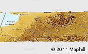 Physical Panoramic Map of Igara