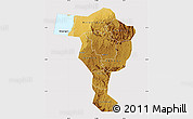 Physical Map of Bushenyi, cropped outside