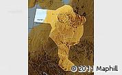 Physical Map of Bushenyi, darken