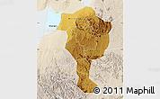 Physical Map of Bushenyi, lighten
