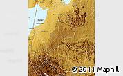 Physical Map of Bushenyi