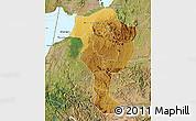 Physical Map of Bushenyi, satellite outside