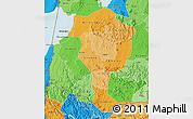 Political Shades Map of Bushenyi