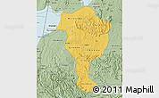 Savanna Style Map of Bushenyi