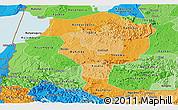 Political Shades Panoramic Map of Bushenyi