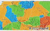 Political 3D Map of Sheema