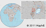 Gray Location Map of Sheema