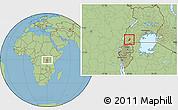 Savanna Style Location Map of Sheema
