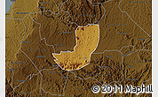 Physical Map of Sheema, darken