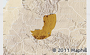 Physical Map of Sheema, lighten