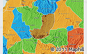Physical Map of Sheema, political outside