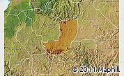 Physical Map of Sheema, satellite outside