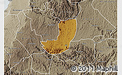 Physical Map of Sheema, semi-desaturated