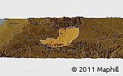Physical Panoramic Map of Sheema, darken