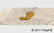 Physical Panoramic Map of Sheema, lighten