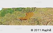 Physical Panoramic Map of Sheema, satellite outside
