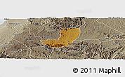 Physical Panoramic Map of Sheema, semi-desaturated