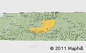 Savanna Style Panoramic Map of Sheema