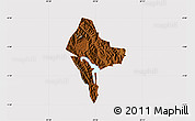 Physical Map of Rubanda, cropped outside
