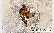 Physical Map of Rubanda, lighten