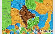 Physical Map of Rubanda, political outside