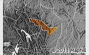 Physical Map of Rukiga, desaturated
