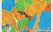 Physical Map of Rukiga, political outside