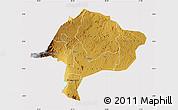 Physical Map of Kabarole, cropped outside