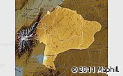 Physical Map of Kabarole, darken