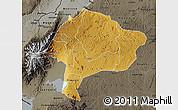 Physical Map of Kabarole, darken, semi-desaturated